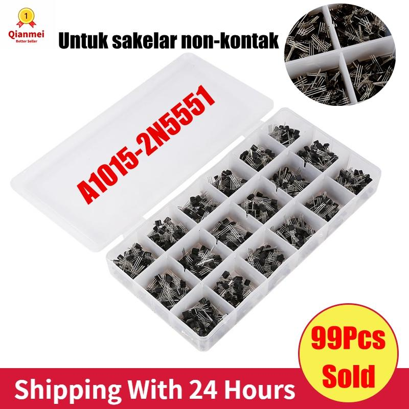 60pcs 10 Values Transistor for Non-Contact Switch with Storage Box L7805 L7806 L7809 L7812 L7815 L7824 L7905 L7912 L7915 LM317 Transistor Assortment Kit 6pcs Each Type