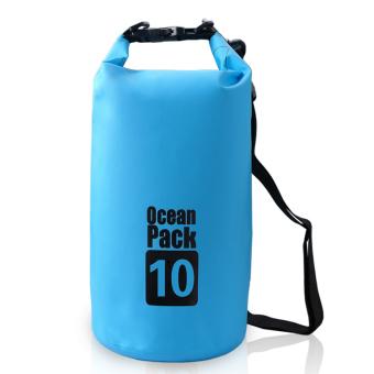 10 liter kolam laut paket tas tahan air tas penyimpanan karunguntuk perjalanan arung jeram berperahu kayak kano berkemahsnowboarding (biru)