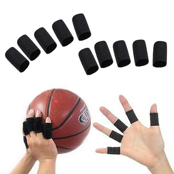 ... 10PCS Stretchy Finger Sleeve Support Wrap Arthritis Guard Volleyball Sports - intl ...
