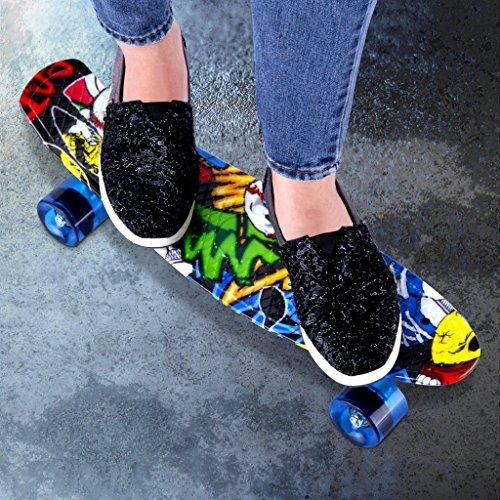 22 Inch Cruiser Skateboard Plastic Banana Board With Bendable Deck And Smooth PU Casters For Kids