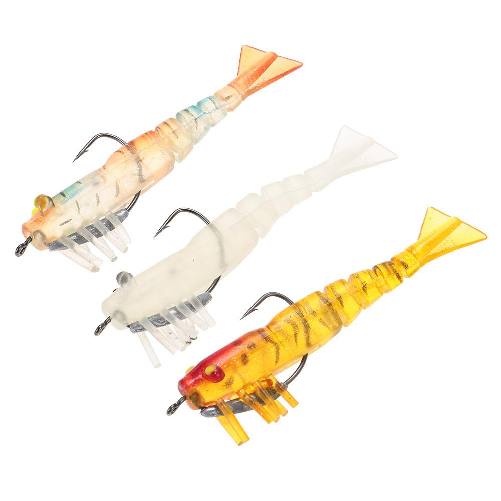 3 buah 5 Jionted tersegmentasi penangkapan ikan umpan udang umpan penangkapan ikan Kit .