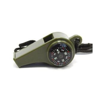 3-in-1 berkemah mendaki peralatan Survival peluit darurat kompastermometer - 3