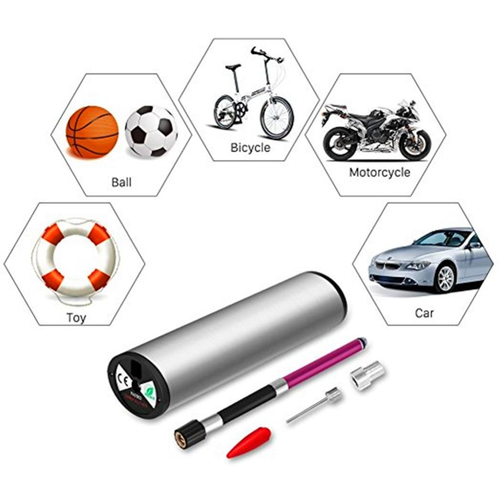 3 In 1 Portable Electric Inflator Rechargeable Digital Display AirPump with Tire Pressure Monitor for Bike Motorcycle Car US PlugSpecification:Stainless steel + American regulation + car charger -intl