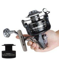 7000 Series 12+1 Ball Bearings 4.7:1 Seamless Metal Full Metal Spool Arms Fishing Reel - intl