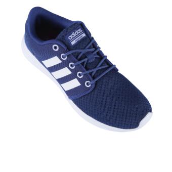 Adidas Cloudfoam QT Women's Racer Shoes - Mystery Blue S17-Ftwr White-Glow Orange ...