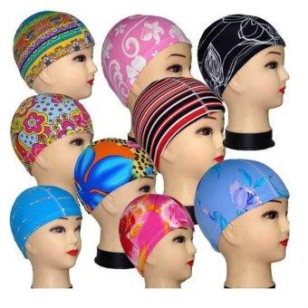 Gambar Anak Dewasa Unisex Topi Renang Topi Topi Kain Pantai Motif  BungaBerbagai Macam Warna Desain da49e90cf9