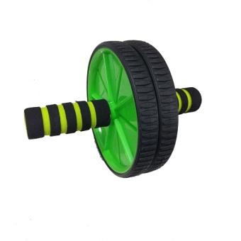 Anekaimportdotcom Fitness Double Wheel Dual Roller Exercise Gym Body Slim / Fitnes Double Wheel- Hijau - 3