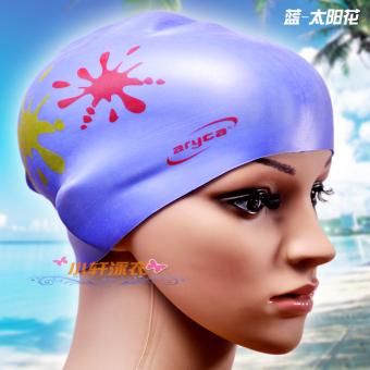 Aryca Shishang wanita dengan rambut panjang tahan air topi renang topi renang topi renang topi renang