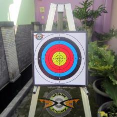 Bantalan Face Target 40x40x2cm Bergaransi  Papan Karet Sasaran Arrow  Busur Anak Panah Panahan