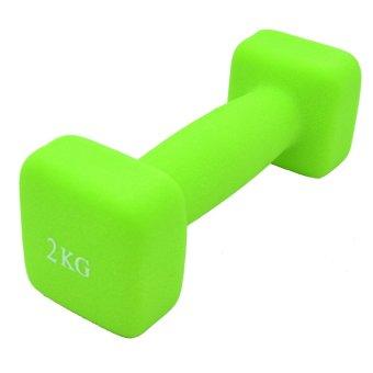 Bfit Neoprene Dumbbell 2kg - Neon Green 1pcs