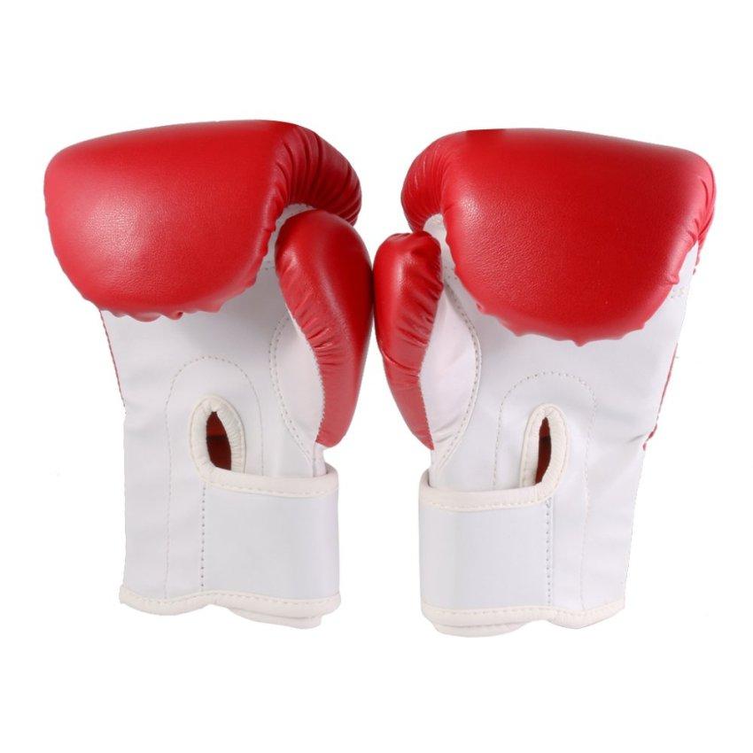 BolehDeals Anak PU Kulit Kick Boxing MMA Pelatihan Tinju Meninju Tas Sarung Tangan .