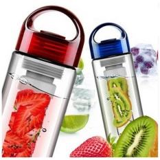 Botol Infused Water Import New Model - Botol Minum Buah - Water Bottle With Fruit Infuser - Multi colour