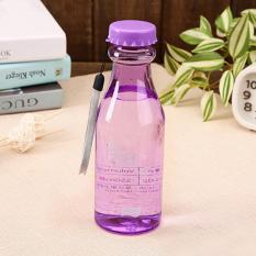 Botol Minum Unik BPA Free Anti Tumpah 550 Ml / Tempat Botol Air Minum - Ungu