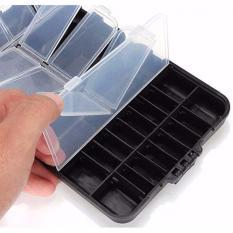 Box Kotak Perkakas Kail Pancing Waterproof Case Q041 Fishing Box Tools - Hitam