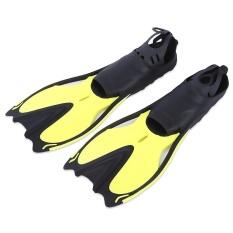 Dipasangkan Renang Sirip Submersible Sirip Snorkeling Sepatu (Kuning)-Intl