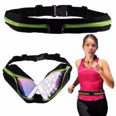 Double Bag Sport Waterproof Sack Waist Sport Tas Pinggang Sabuk Tas Gesper Anti air Olahraga Running Waist Bag jogging Mobile Belt