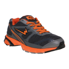 Eagle Ecolight Sepatu Lari Pria - Dark Grey-Oranye