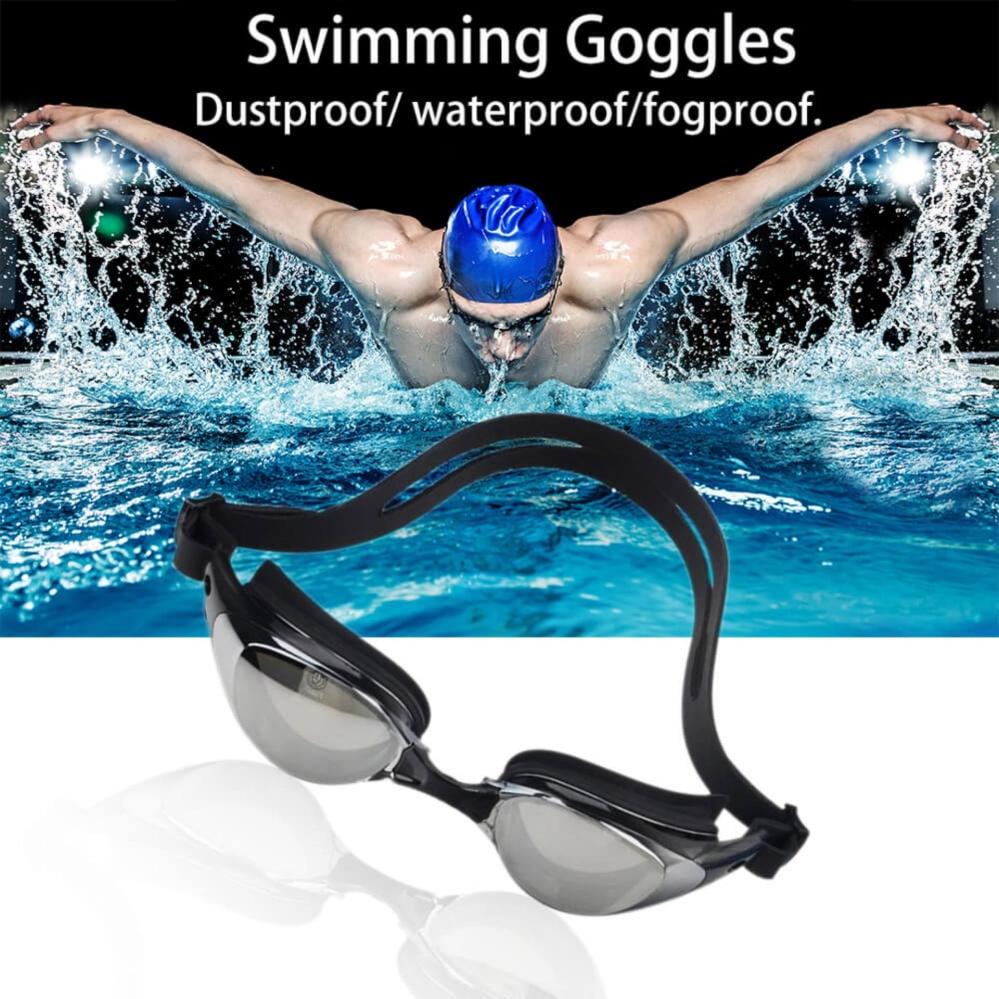 ... EsoGoal Kacamata Renang Swimming Goggles Anti Fog Uv Protection Kacamata Tenis Waterproof Dengan Kasus (Hitam ...
