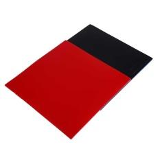 Fabulous 2Pcs Table Tennis Racket Pips In Raquette Rubber Sponge Red/Black Quality - intl