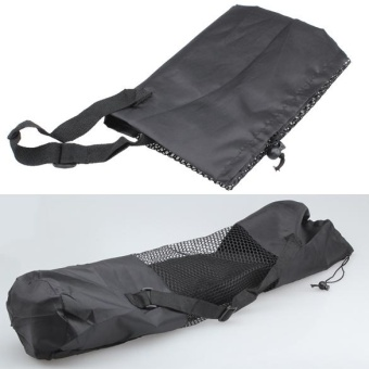Fine Nylon Yoga Mat Bag Carrier Mesh Center Black W - intl