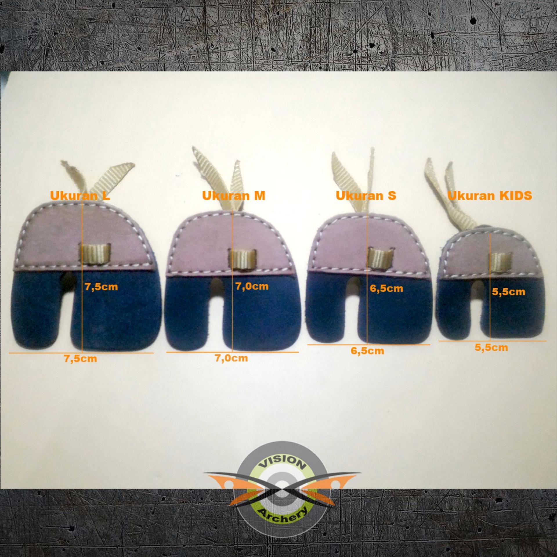 Finger Tab FT-02 Size S Genuine Leather | Pelindung Jari Tangan Kulit Asli Panah ...