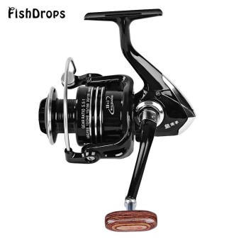 Diskon Penjualan Fishdrops 13BB One Way Clutch Size 5000 Full Metal Spool Spinning Carp Fishing Reel (Bright Black) - intl Cari Bandingkan