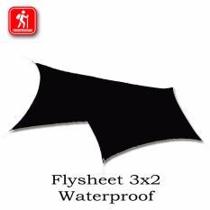 Flysheet Waterproof Pelapis Tenda & Survival Kit Footprint