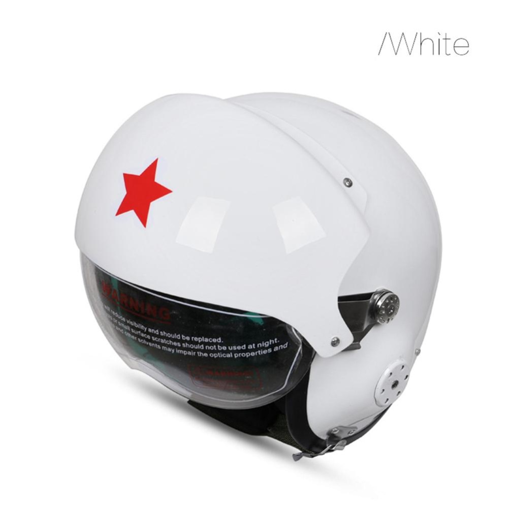 Glass Fibre Reinforced Plastic Pilot Motorcycle Electric Car Winter Helmet for Men and Women Color:Bright black Specification:Free Size - intl