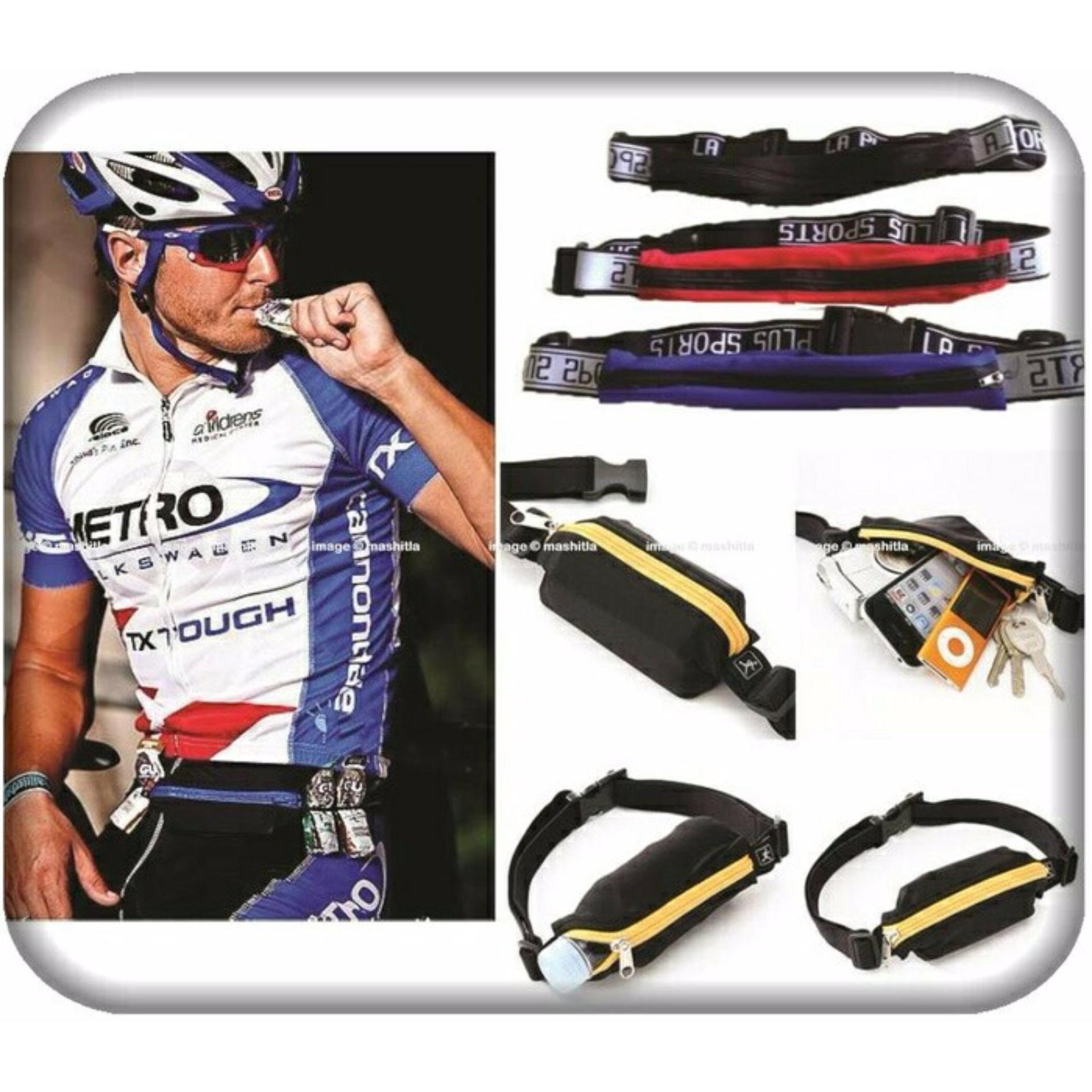 GO BELT BREWYN- belt/ikat pinggang multifungsi untuk sport/travelling - SOLID BLUE