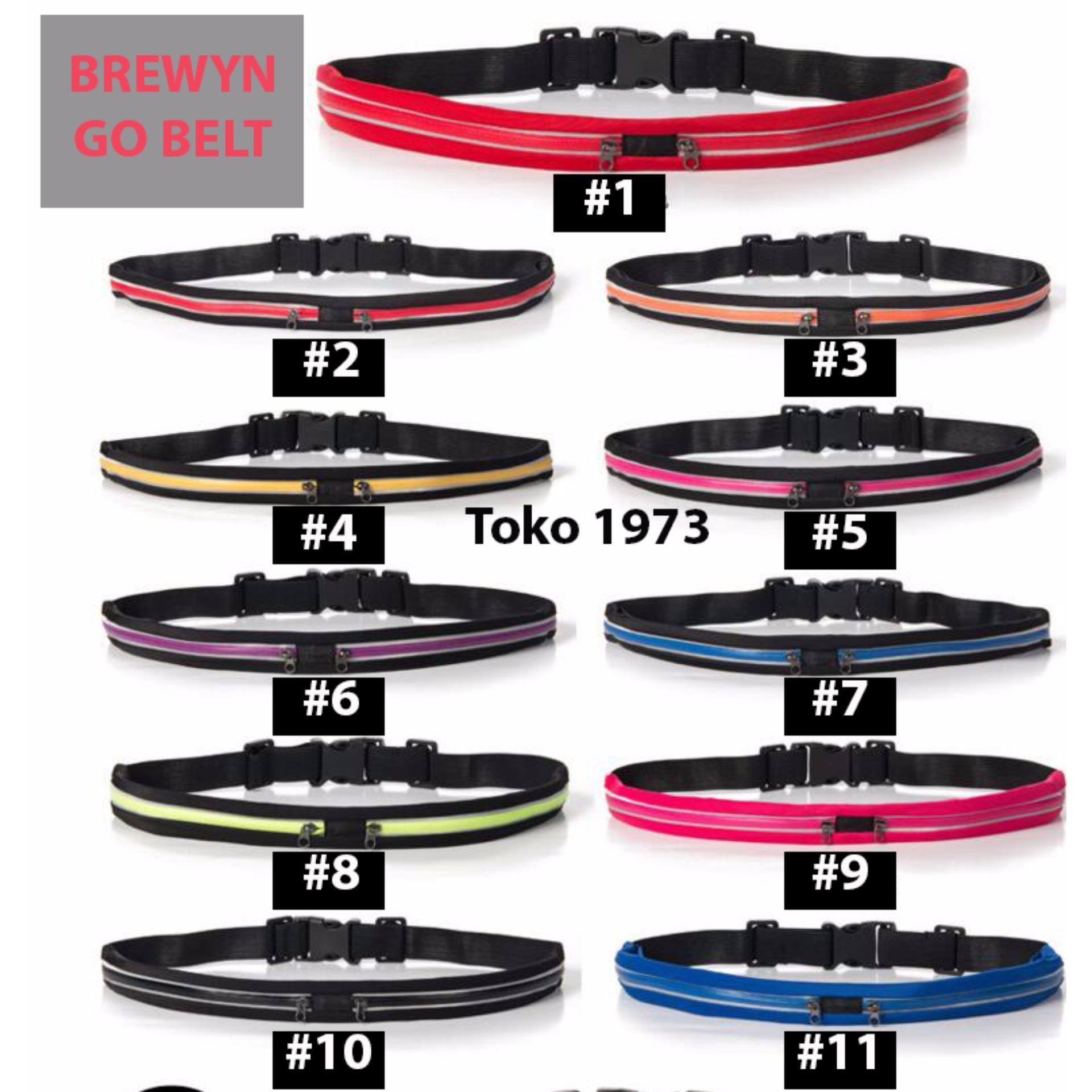 GO BELT BREWYN- belt/ikat pinggang multifungsi untuk sport/travelling - SOLID PINK