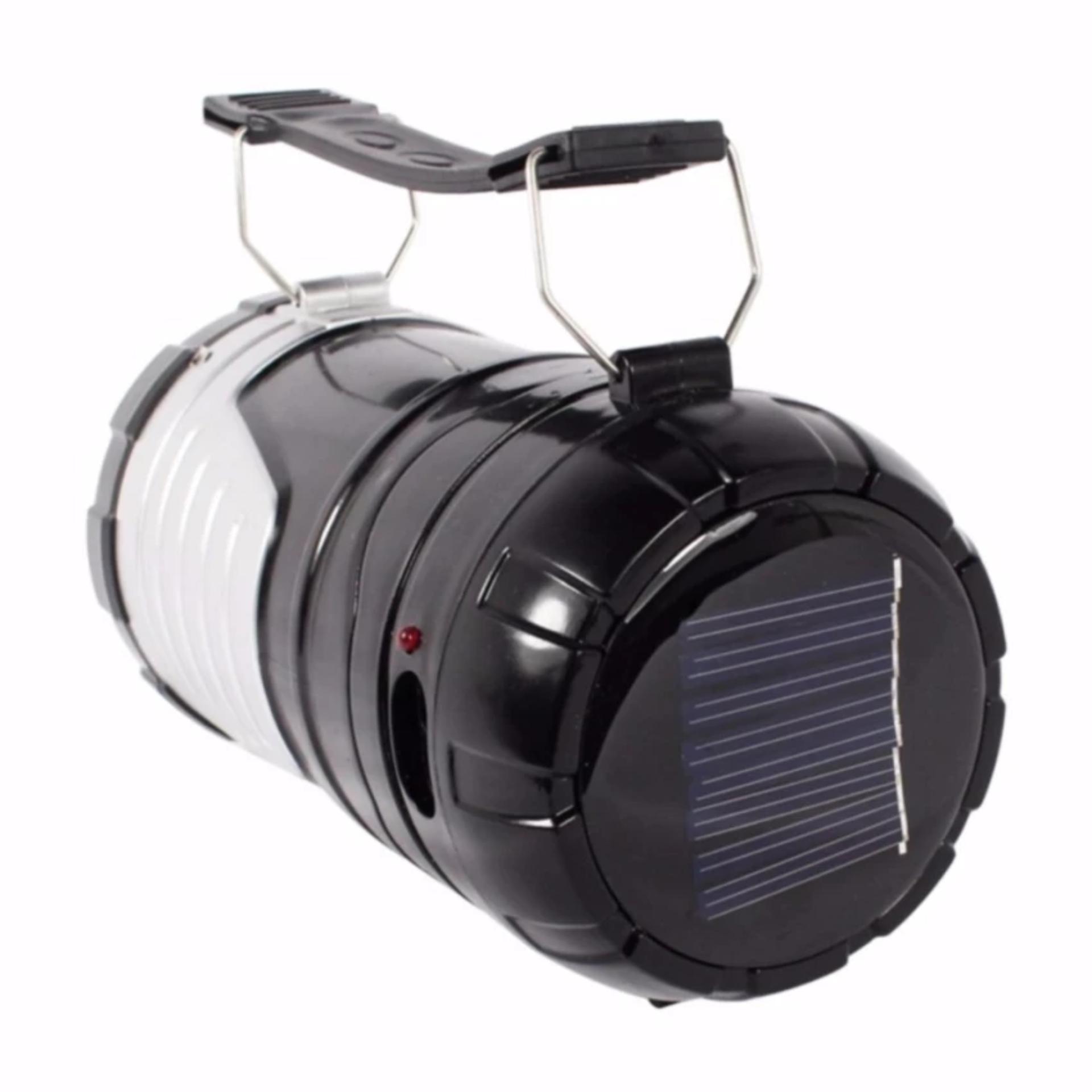 ... Grosir station - Lampu Lentera Camping Solar Plus Senter LED 2 Fungsi Bisa Untuk Powerbank ...