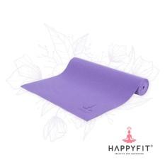 HAPPYFIT MATRAS YOGA TERMURAH (GRATIS TAS) / PVC YOGA MAT 6MM - VIOLET (FREE BAG)