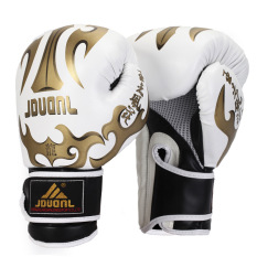 Having nine bully muay Thai boxing gloves Tae kwon do fight sanda muay Thai training gloves competition gloves (White)(Intl)