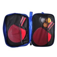 HUOBAN 6336B Table Tennis Racket Ping Pong Anti Slip Comfort Grip Short Handle Bat Paddle Three Balls - intl