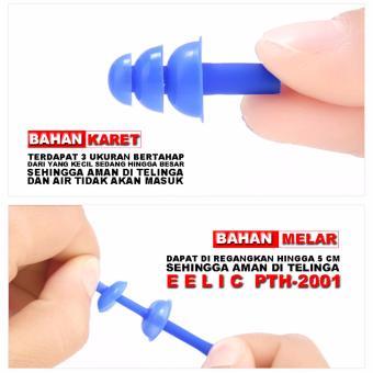 EELIC PTH 2001 PINK Penutup Telinga Dan Hidung Earplug Noseclip Untuk Renang 3 .