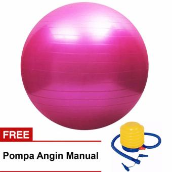 Harga Gym Ball Bola Yoga Fitnes Senam free Pompa 65cm Jim Ball