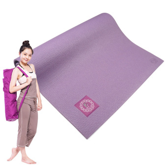 Harga YJS Eco Friendly Yoga Mat~Purple With Bag - Intl
