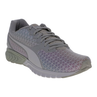 Harga Puma Ignite Dual Prism Women's Running Shoes - Puma White-Glacier Gray-Silver
