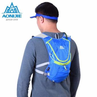 Running Cycling Vest Backpack + 2L Bladder Bag Sports Camping Hydration Water Blue .