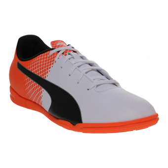 Harga Puma evoSPEED 5.5 IT Men's Football Shoes - Puma White-Puma Black-Shocking Orange