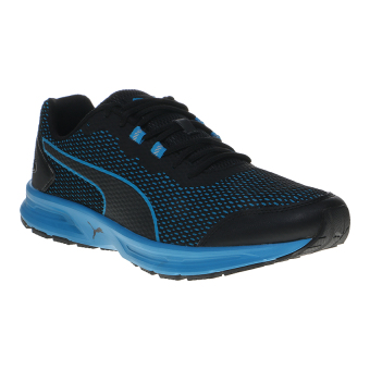 Harga Puma Descendant v4 Men's Running Shoes - Puma Black-Blue Danube