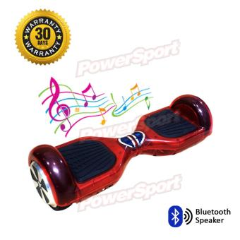 Harga Moonwalk Hoverboard Smart Wheels Balance Bluetooth Speaker - Merah Transparan