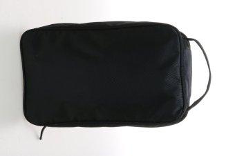 Galeri Gambar Kappa Portable Tas Sepatu - Hitam Lengkap