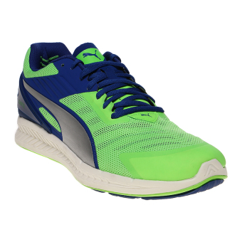 Harga Puma Ignite v2 Running Shoes - Green Gecko-Blue-Silver