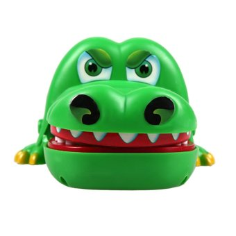 Buaya besar mulut gigi menggigit jari permainan lucu hadiah mainan - International - 2 .