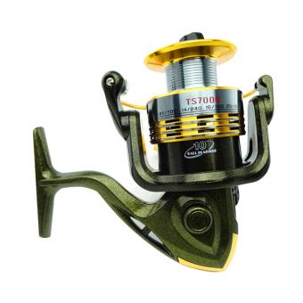 PAlight logam Flash umpan 10 bantalan penangkapan ikan gulungan (TS7000)