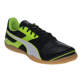 Harga Puma Invicto Sala Futsal Shoes - Puma Black-Puma White-Safety Yellow