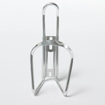 Aluminium Paduan Sepeda Rak Sepeda Bersepeda Minum Botol Air Pemegang Kandang Perak -