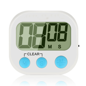Mini LCD Kitchen Cooking Countdown Count Up Digital Alarm Timer with Magnetic Stand English Display