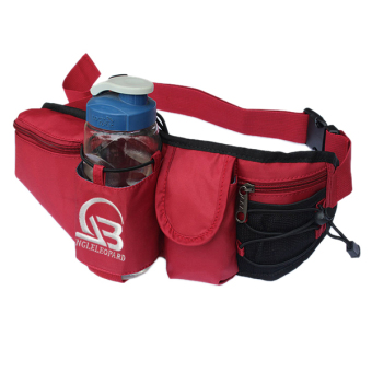 Harga PAlight Multifunction Outdoor Sports Water Bottle Waist Pack (black+red)